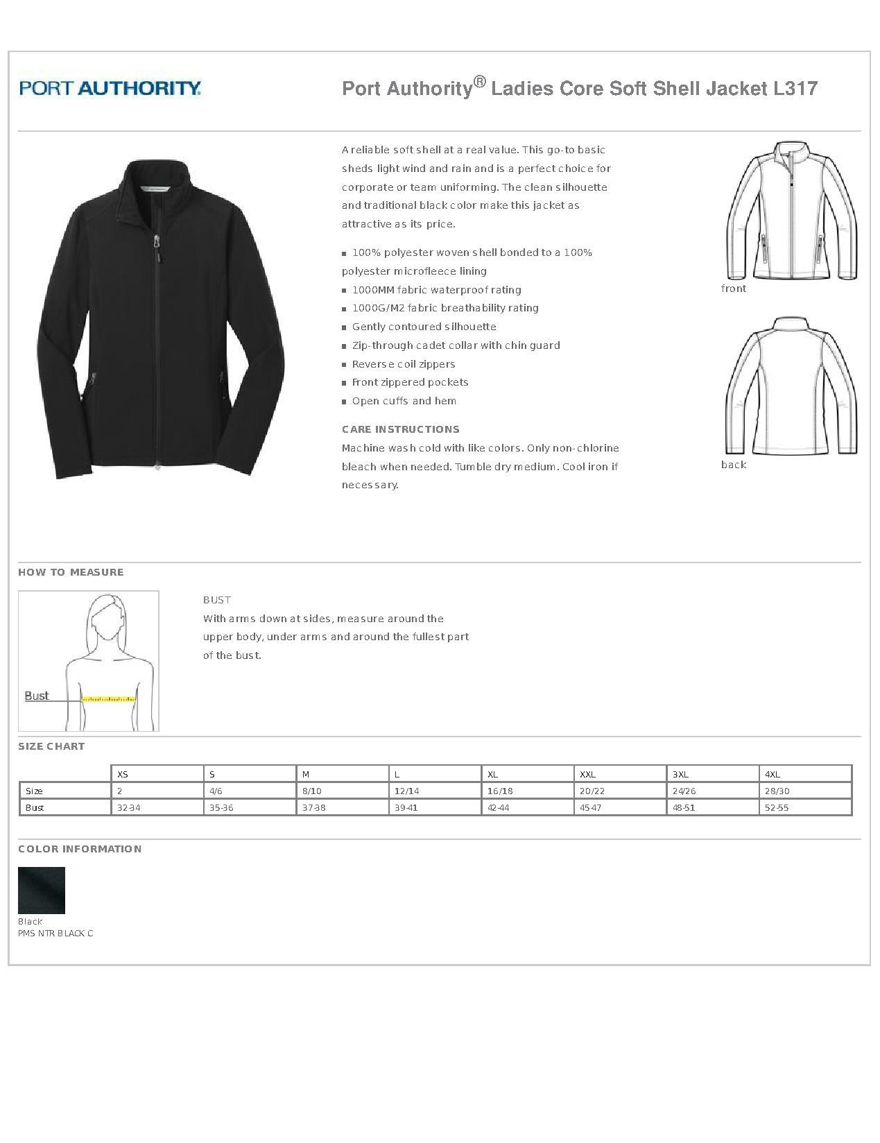 Soft Shell Jacket Xs Med 95 Size Chart