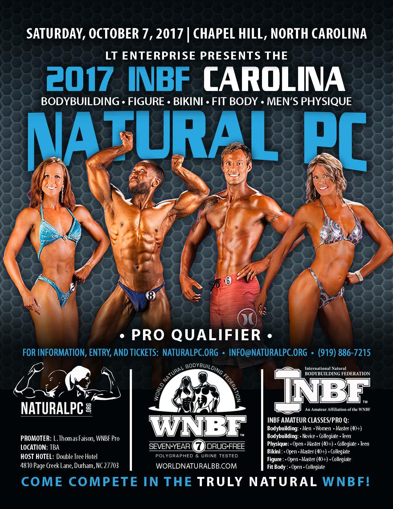 2017 INBF Carolina Natural PC WNBF Pro Qualifier