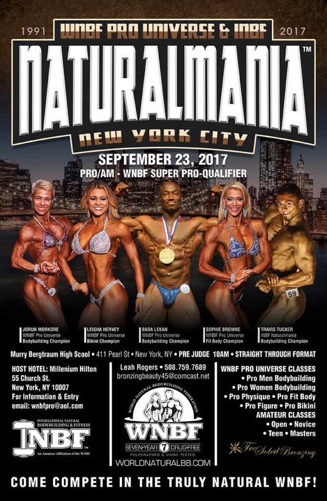 2017 WNBF Pro Universe and INBF Naturalmania WNBF Super Pro Qualifier New York City