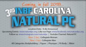 2018 3rd Annual INBF Natural PC WNBF Pro Qualifier