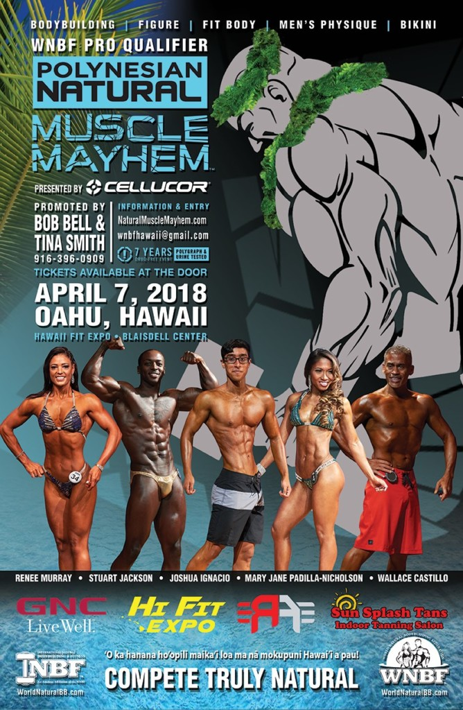 2018 INBF Polynesian Natural Muscle Mayhem Hi Fit Expo Oahu Hawaii