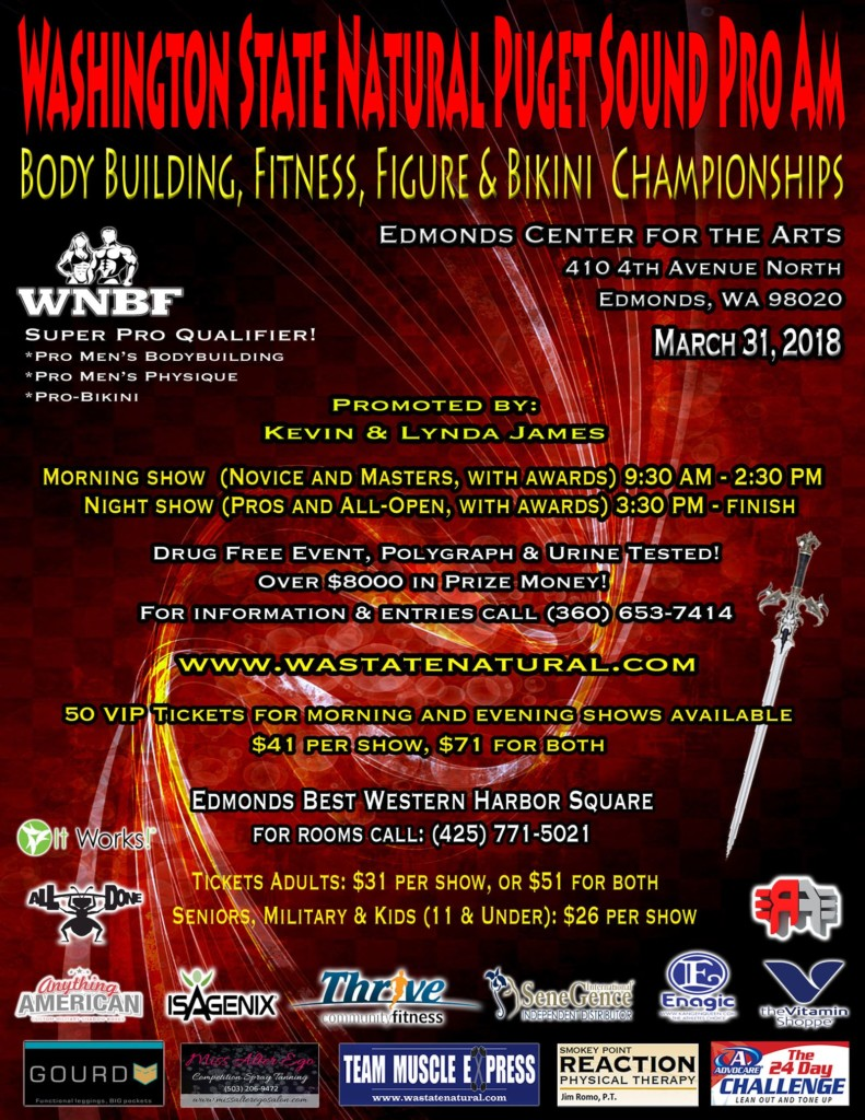 2018 INBF and WNBF Washington State Pro Am