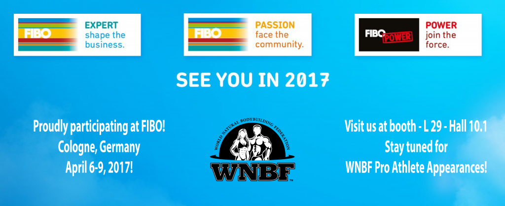 WNBF Participation in FIBO Cologne Germany 2017