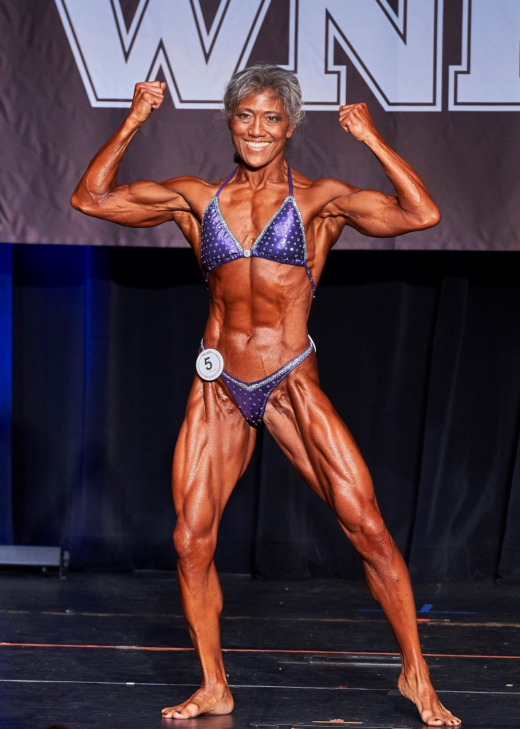 Lisa Lum 2016 WNBF Cellucor Pro World Championships Overall Womens Bodybuilding Champion