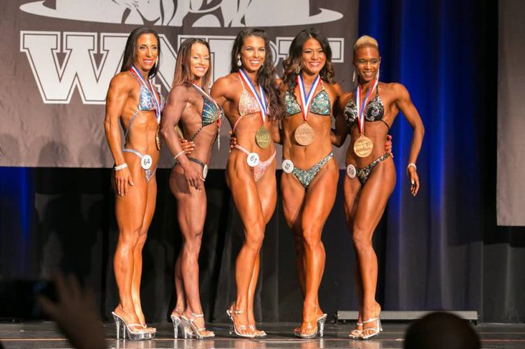 WNBF Pro Figure Short Worlds Competitors 2016
