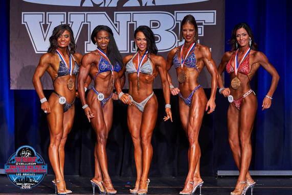 WNBF Pro Figure Tall Worlds Competitors 2016