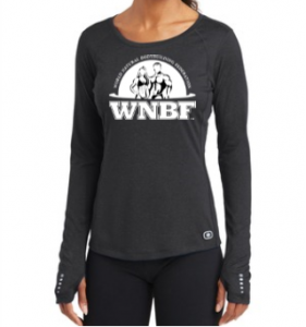 WNBF Womens Black Bella Canvas Burnout Long Sleeve