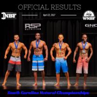 Results 2017 INBF South Carolina Mens Physique
