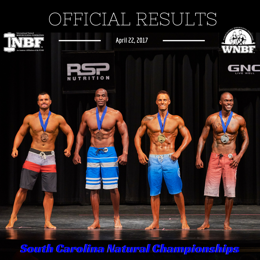 Results 2017 INBF South Carolina Mens Physique