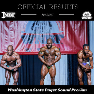 Results 2017 INBF Washington State Puget Sound