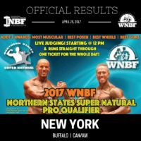 2017 INBF Northern States Super Natural Official Results