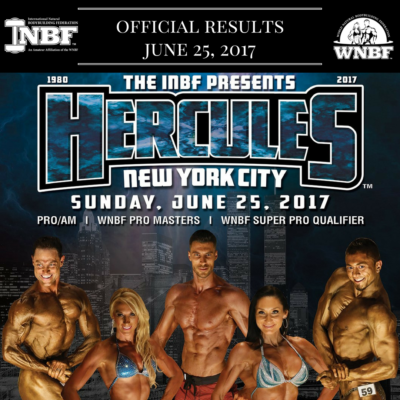 Results 2017 INBF Hercules & WNBF Pro Masters New York City Natural Bikini, Bodybuilding, Men's Physique