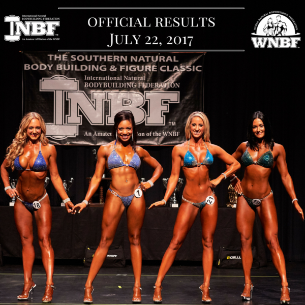 Results 2017 INBF Southern Natural Classic WNBF Pro Qualifier Savannah Georgia