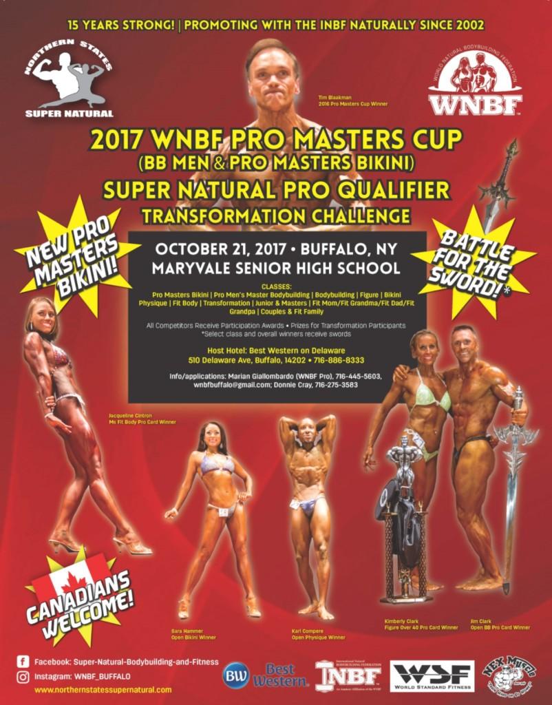 2017 WNBF Pro Masters Cup Pro Men Bodybuilding Pro Bikini WNBF Pro Qualifier Buffalo New York