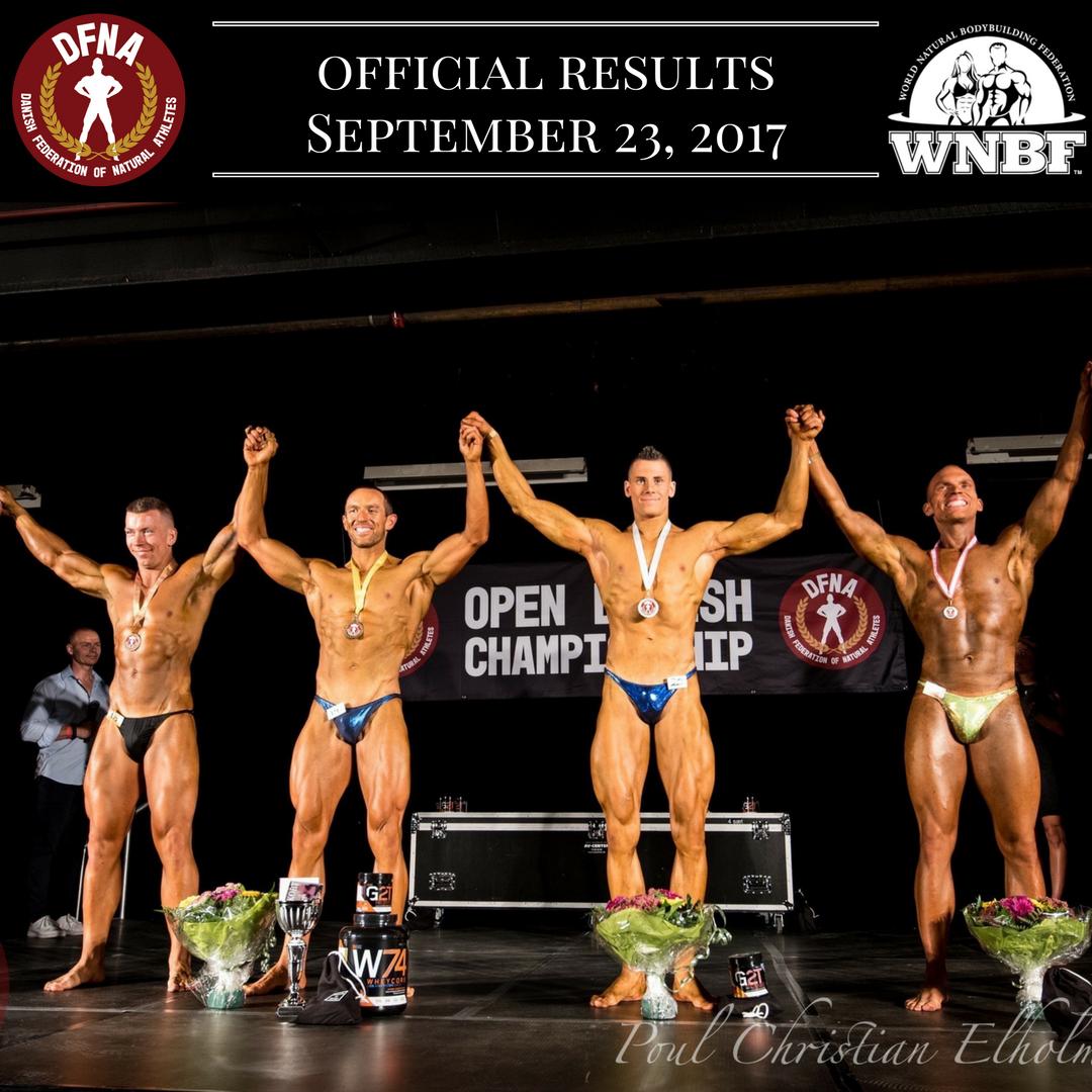 Results 2017 DFNA Open Danish Championships Denmark