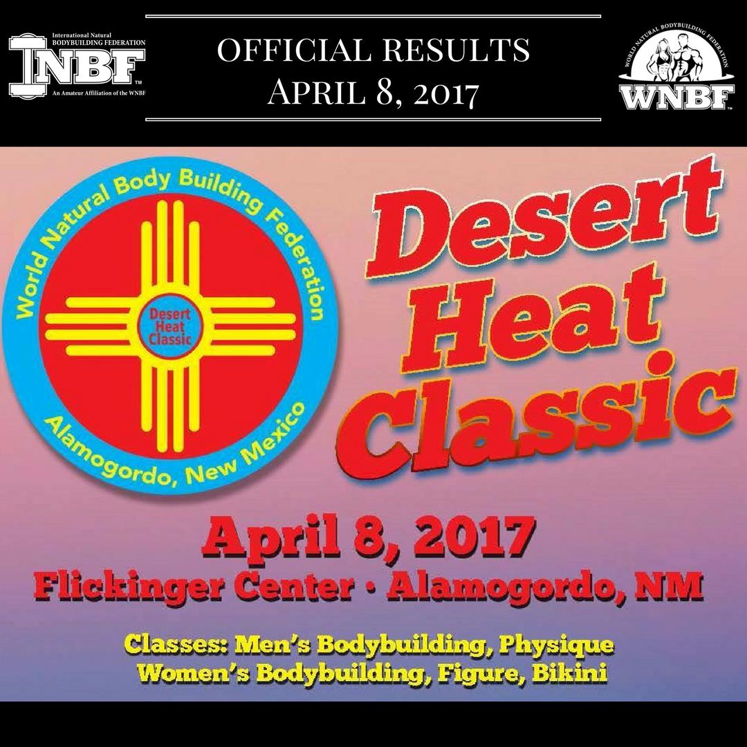Results 2017 INBF Desert Heat Classic Alamagordo, New Mexico