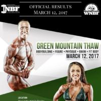 Results 2017 INBF Green Mountain Thaw WNBF Pro Qualifier Brattleboro, MA