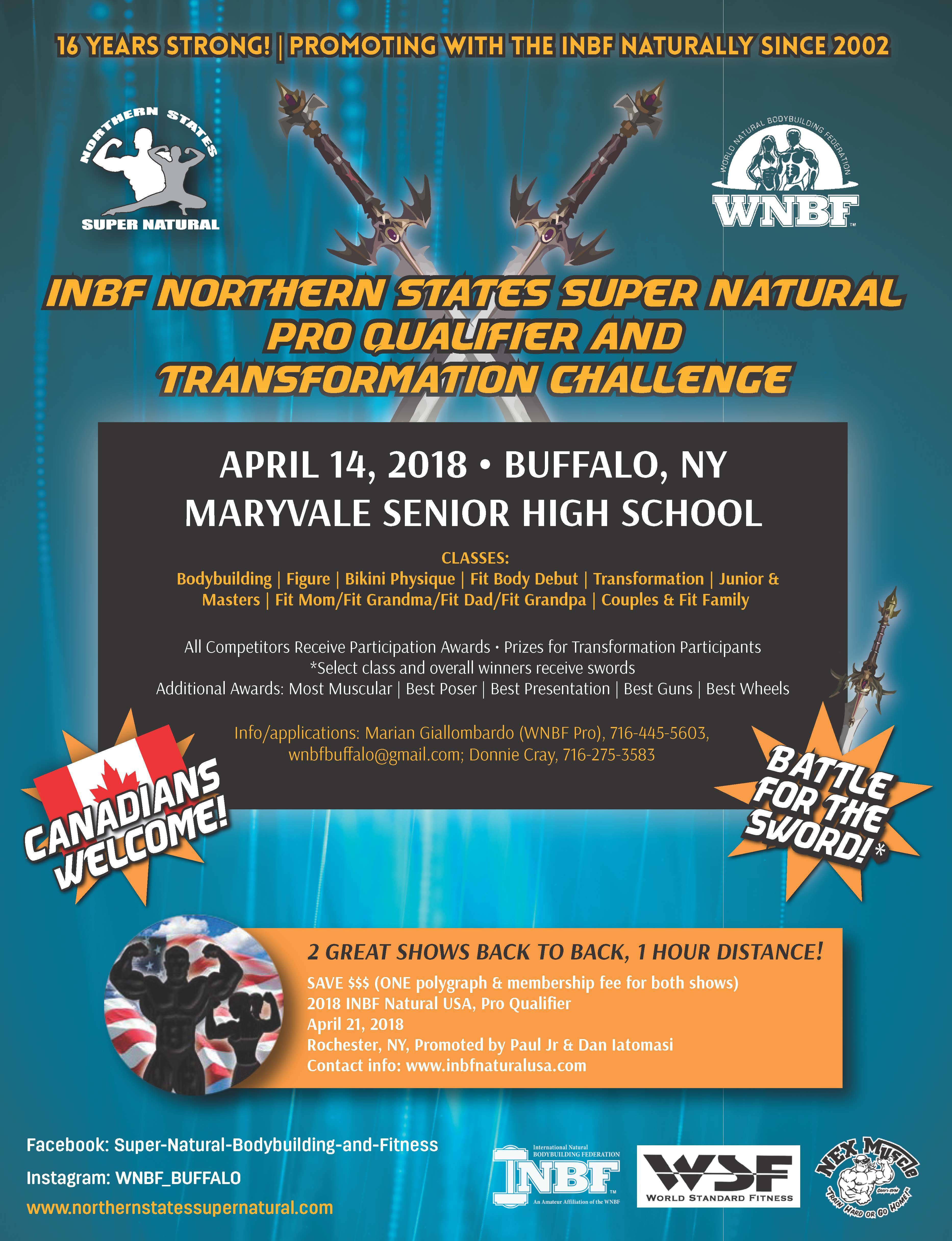 2018 INBF Northern States Super Natural WNBF Pro Qualifier Buffalo New York