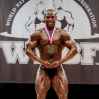 UKDFBA Champion Sam Watt 2017 WNBF Pro Mens Heavy Weight World Champion