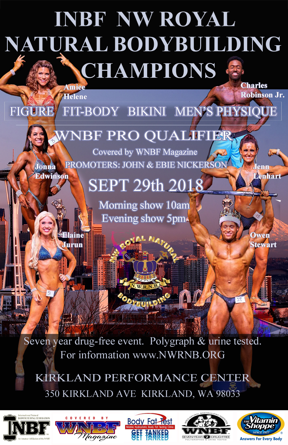 2018 INBF Northwest Royal Natural WNBF Pro Qualifier Kirkland Washington promoted by John and Ebie Nickerson