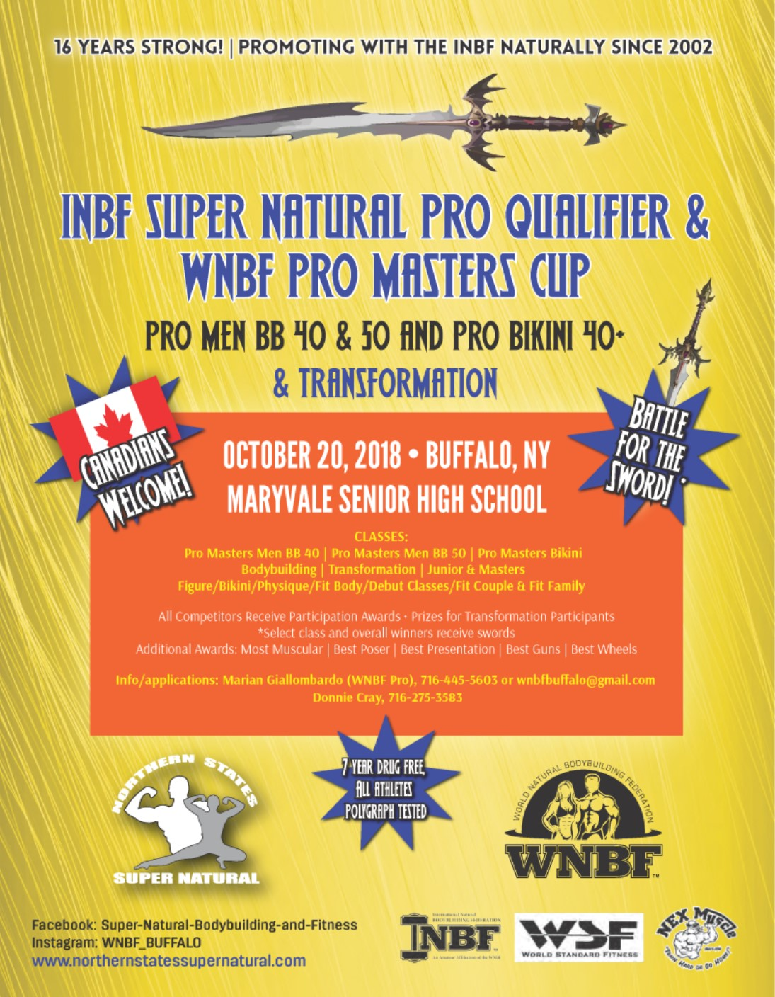 INBF Supernatural WNBF Pro Qualifier WNBF Pro Masters Cup Buffalo New York