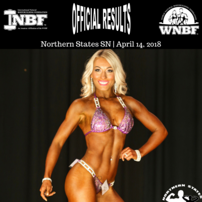 Natalia Krajas Overall Bikini Champion of the 2018 INBF Northern States Supernatural Championships WNBF Pro Qualifier