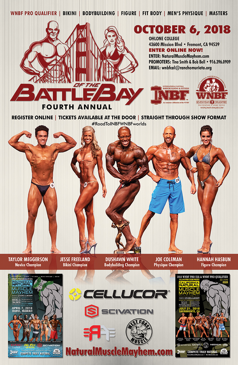 Bob Bell and Tina Smith present the 2018 INBF Battle of the Bay WNBF Pro Qualifier in Fremont California