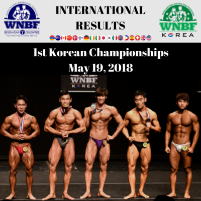 1st WNBF Korea Natural Championships Seoul Korea