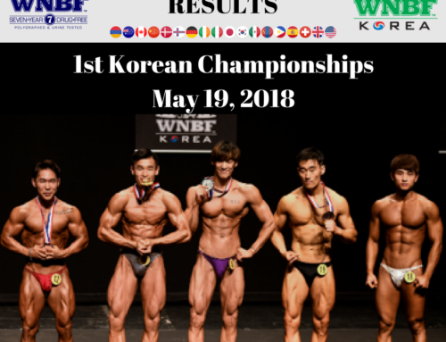 RESULTS:  2018 WNBF Korea