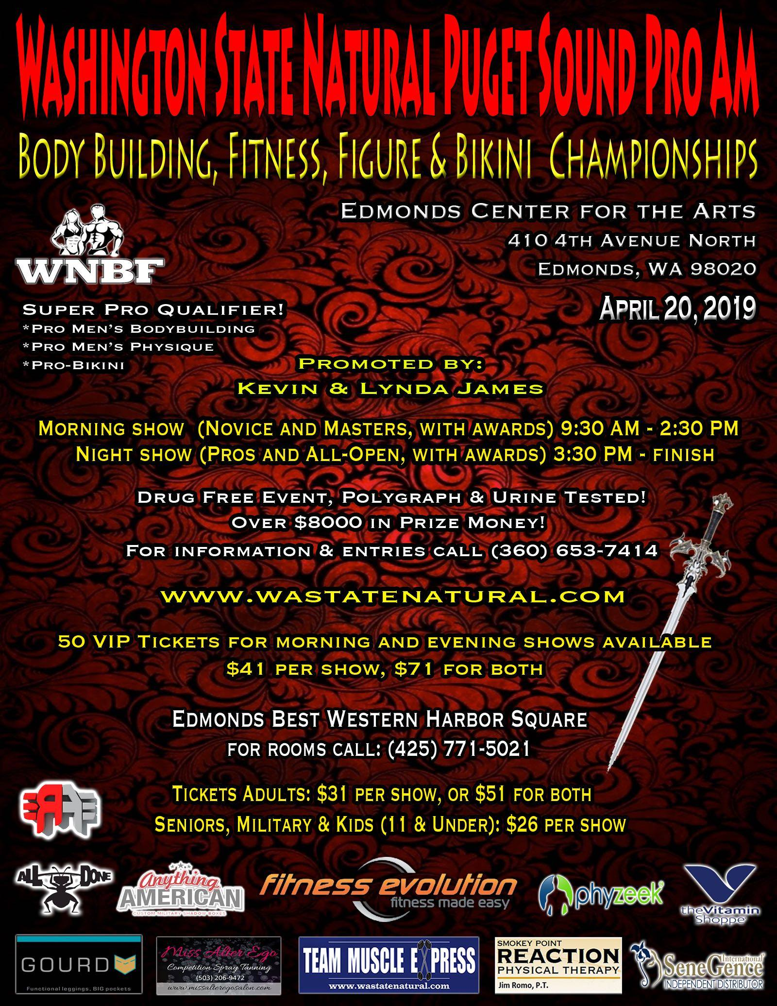 WNBF Pro and INBF Amateur Washington State Pro Am Edmonds Washington WNBF Pro Qualifier