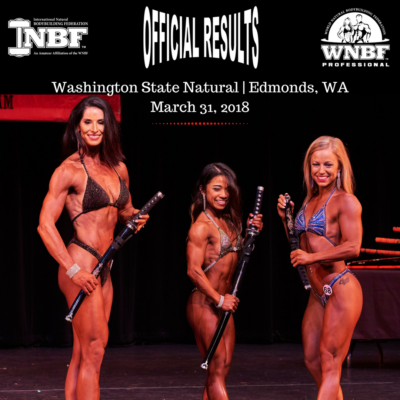 Official Results 2018 WA State Natural INBF and WNBF Pro Am Edmonds WA.