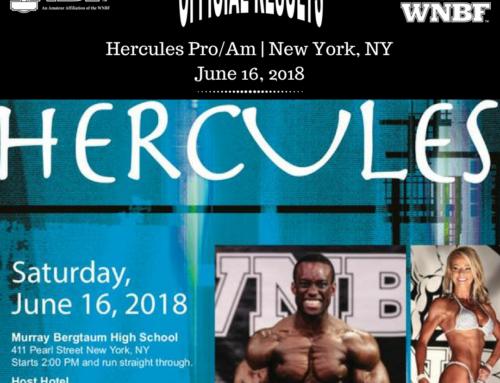 RESULTS: 2018 Hercules