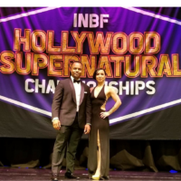 Ralph Remi and Lise Ha Pham promoters of the INBF Hollywood Super Natural WNBF Pro Qualifier in Hollywood California