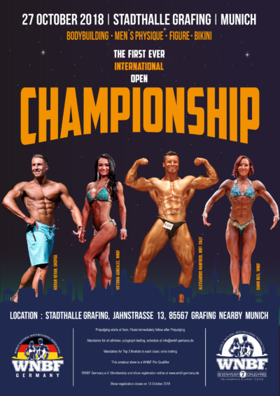 WNBF Germany International Open Natural Championships WNBF Pro Qualifier presented by Teresa Schumacher and Max Trieb