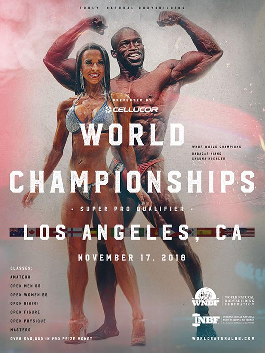 2018 INBF WNBF Cellucor World Championships Los Angeles Niang Babacar and Shauna Koehler
